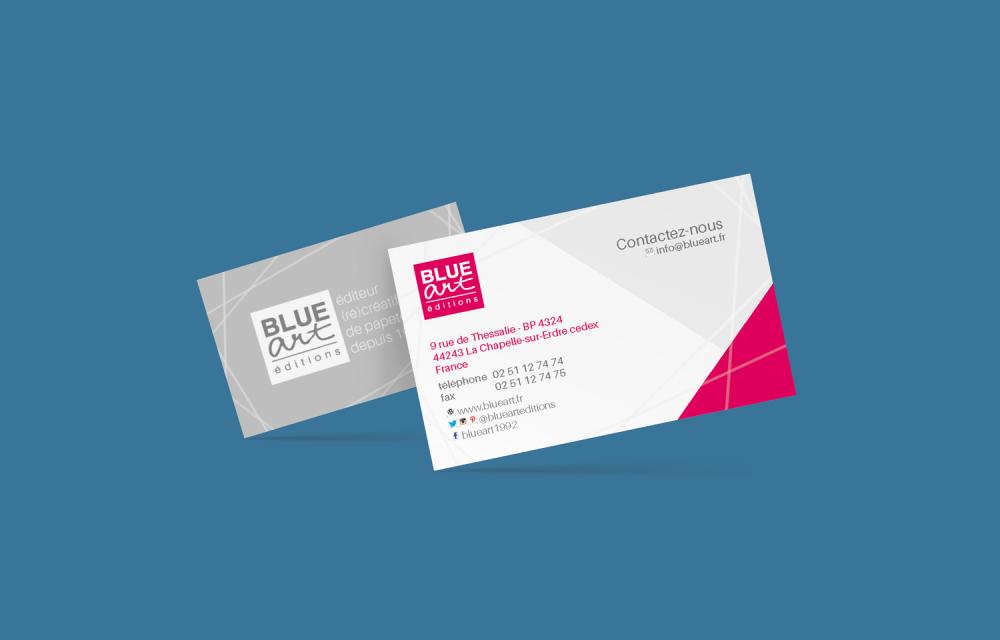 Cartes de visite Blue Art éditions by Claire PéhO