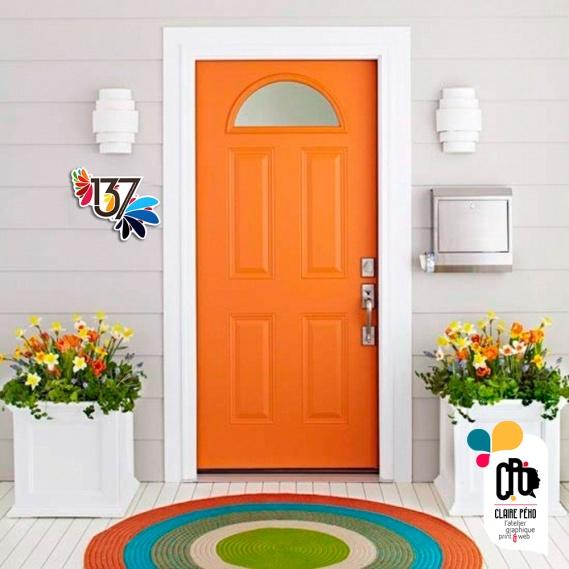 porte d'entrée orange 137, by Claire PéhO