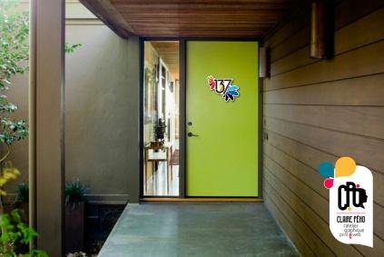 porte d'entrée verte 137, by Claire PéhO